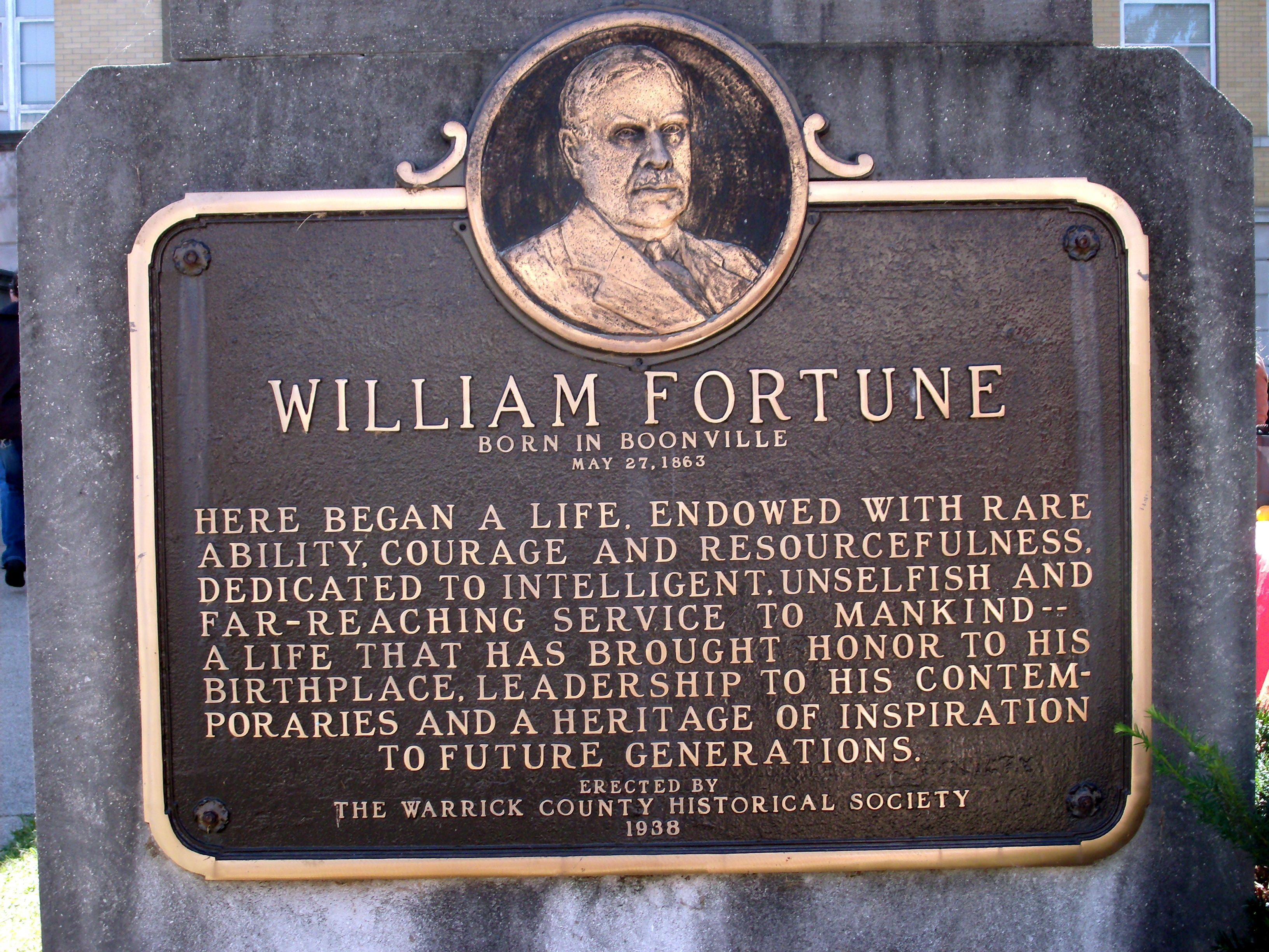 William Fortune - - (Marker - a few steps to the right.)