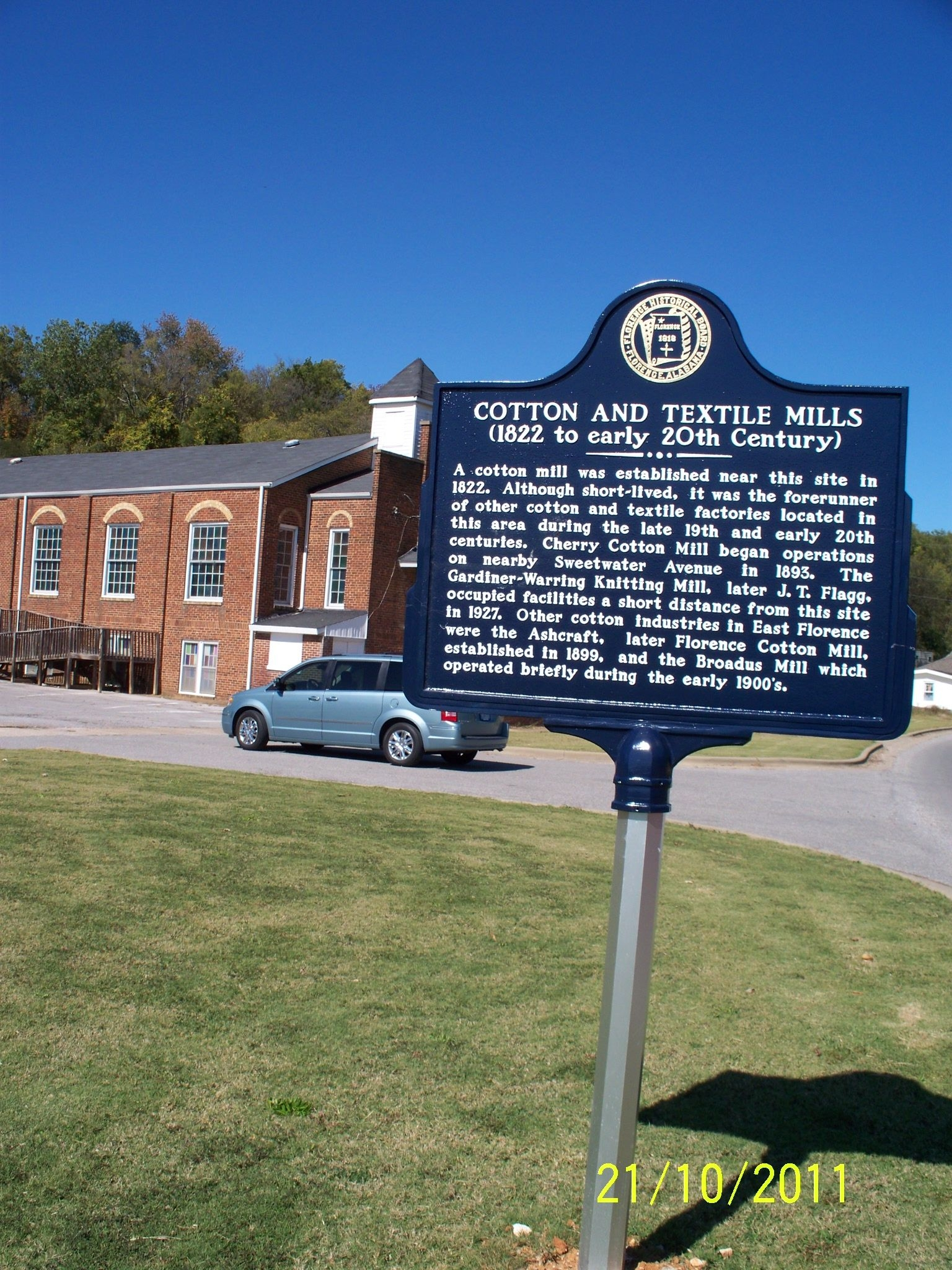Cotton and Textile Mills Marker
