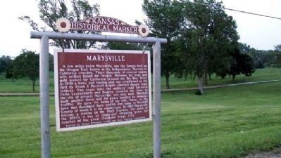 Marysville Marker image. Click for full size.