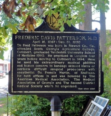Frederick Davis Patterson, M.D. / Patterson Hospital Marker image. Click for full size.