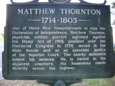 Matthew Thornton Marker image. Click for full size.