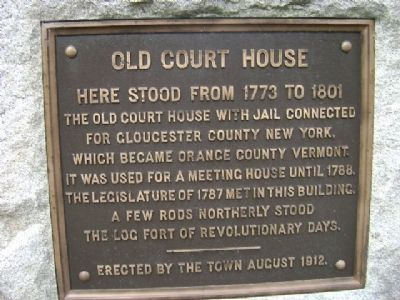 Old Court House Marker image. Click for full size.