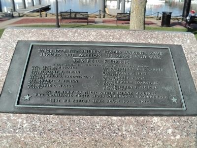 Rhode Island Marine Memorial Marker image. Click for full size.