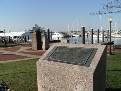 Rhode Island Marine Memorial image. Click for full size.