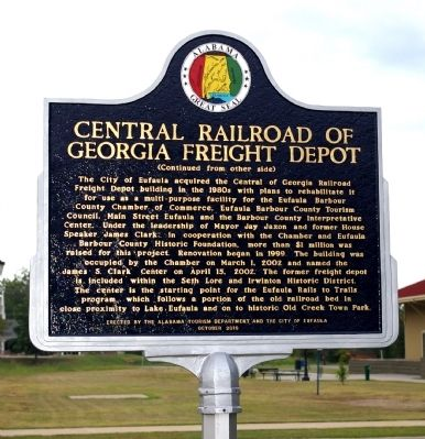 Central Railroad of Georgia Freight Depot Marker image, Touch for more information