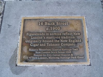 16 Bank Street Marker image. Click for full size.