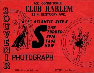 Club Harlem Souvenir Photograph Cover image. Click for full size.
