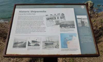 Historic Shipwrecks - Lost at the Golden Gate Marker image. Click for full size.