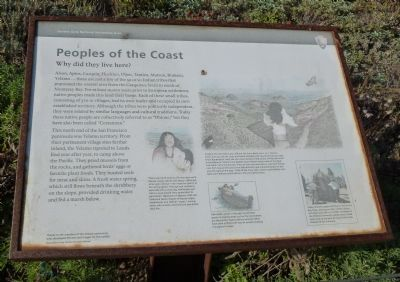 Peoples of the Coast - Why Did They Live Here? Marker image. Click for full size.