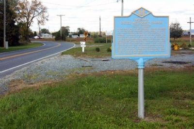 Bethany United Methodist Church Marker, looking north along Lowes Crossing Road image. Click for full size.