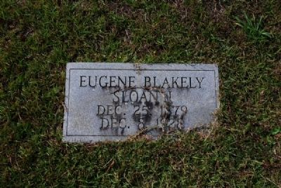 Eugene Blakely Sloan I Tombstone image. Click for full size.