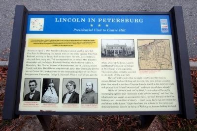 Lincoln In Petersburg CWT Marker image. Click for full size.