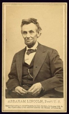 Abraham Lincoln, Pres't U.S. image. Click for full size.