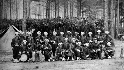 Petersburg, Va. Company H, 114th Pennsylvania Infantry (Zouaves) image. Click for full size.