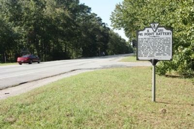 Pig Point Battery Marker, looking west bound along US 58 / US 13 image. Click for full size.