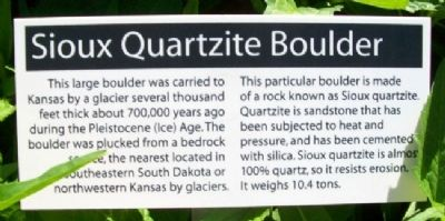 Sioux Quartzite Boulder Marker image. Click for full size.