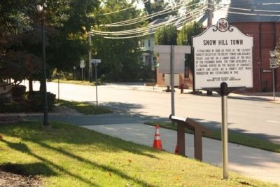 Snow Hill Town Marker on Market Street near Franklin Street intersection image. Click for full size.