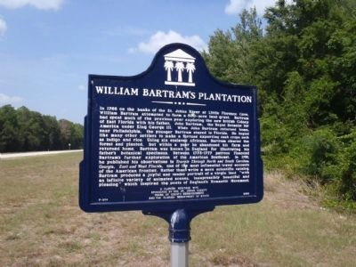 William Bartram's Plantation Marker image. Click for full size.