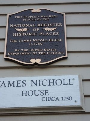 James Nicholl House Marker image. Click for full size.