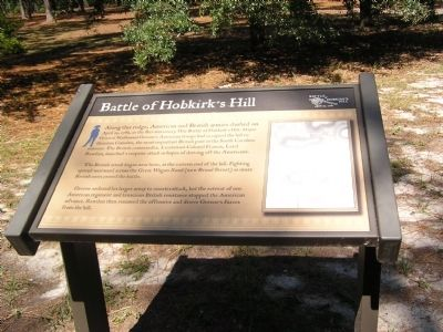 Battle of Hobkirk's Hill Marker image. Click for full size.