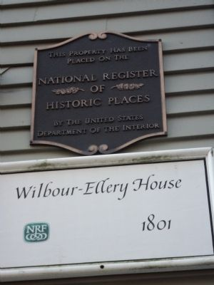 Wilbour-Ellery House Marker image. Click for full size.