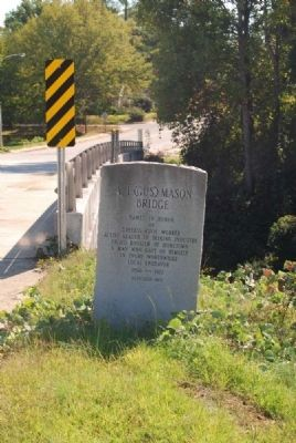 A.I. (Gus) Mason Bridge Marker image. Click for full size.