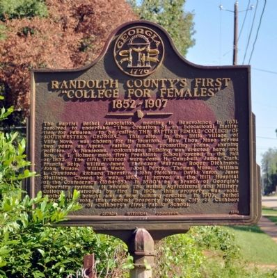 "Randolph County's First ""College for Females"" Marker image. Click for full size."