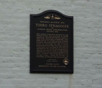 Touro Synagogue Marker image. Click for full size.