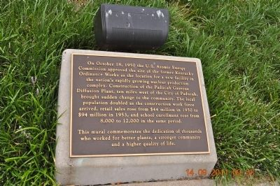 "The ""A"" Boom in Paducah Marker image. Click for full size."