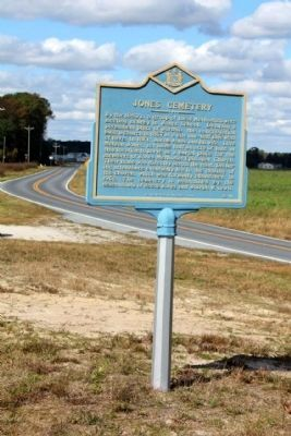 Jones Cemetery Marker, looking north along Lowe's Crossing Road image. Click for full size.