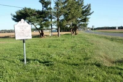 Askiminokonson Indian Town Marker, looking south along North Washington Street, Route 12 image. Click for full size.