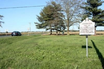 Askiminokonson Indian Town Marker, looking east at Nassawango Road image. Click for full size.
