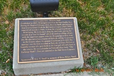 First County Seat ~Braxton Small Marker image. Click for full size.