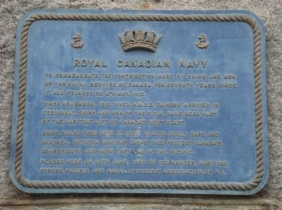 Royal Canadian Navy Marker image. Click for full size.