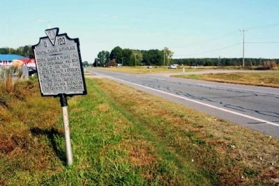 General Thomas' Birthplace Marker, looking west along US 58 image. Click for full size.