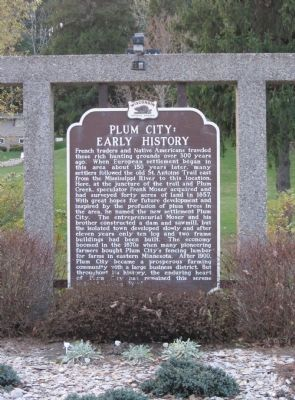 Plum City Marker image. Click for full size.