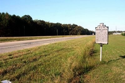 Buckhorn Quarters Marker, looking west along US 58 image. Click for full size.