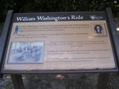 William Washington's Ride Marker image. Click for full size.