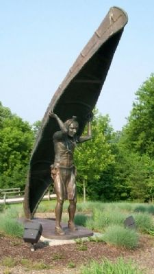 Yeck Family Portage Path Memorial North Terminus Sculpture image. Click for full size.