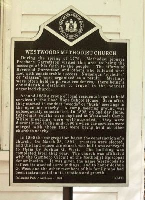 Westwoods Methodist Church Marker image. Click for full size.