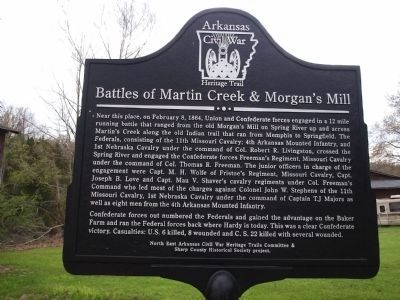 Battles of Martin Creek and Morgan's Mill Marker image. Click for full size.