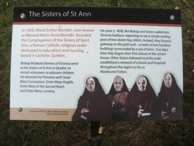 The Sisters of St. Ann Marker image. Click for full size.