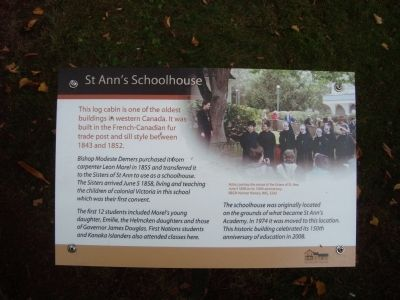 St. Ann's Schoolhouse Marker image. Click for full size.