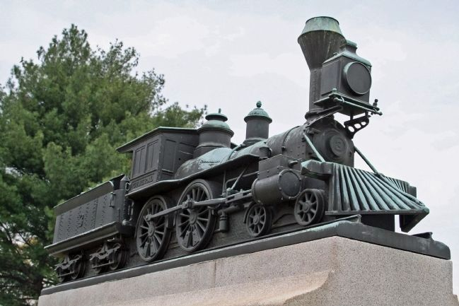 "Locomotive ""General"" atop Marker image. Click for full size."