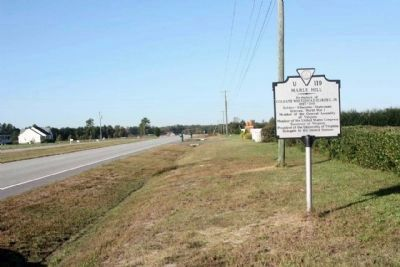 Marle Hill Marker, seen along Camp Parkway (U.S. 58), going westward image. Click for full size.