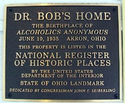 Dr. Bob's Home NRHP Marker image. Click for full size.