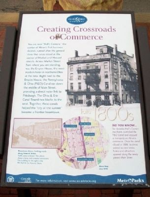 Creating Crossroads of Commerce Marker image. Click for full size.