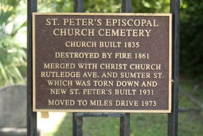 St. Peter's Episcopal Church Cemetery Marker image. Click for full size.