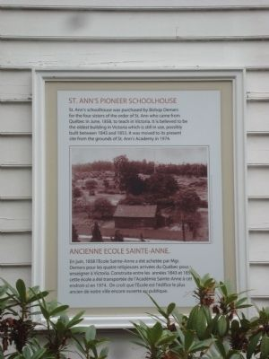 St. Ann's Pioneer Schoolhouse Marker image. Click for full size.