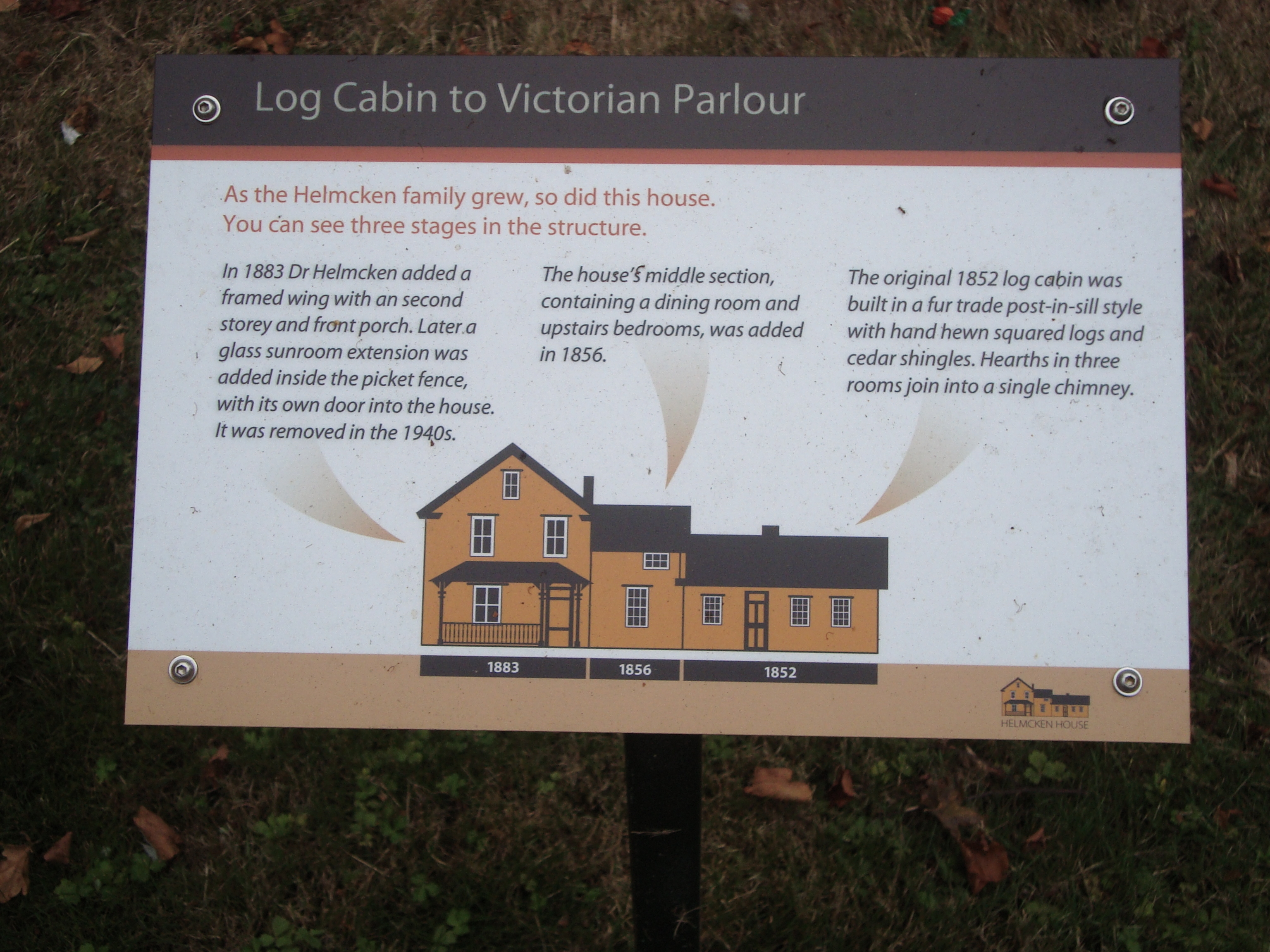Log Cabin to Victorian Parlour Marker